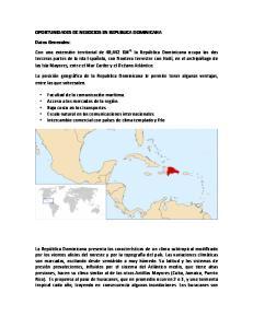 OPORTUNIDADES DE NEGOCIOS EN REPUBLICA DOMINICANA