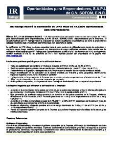 Oportunidades para Emprendedores, S.A.P.I. de C.V. SOFOM, E.N.R