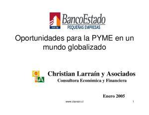 Oportunidades para la PYME en un mundo globalizado
