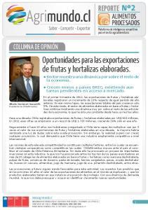 Oportunidades para las exportaciones de frutas y hortalizas elaboradas