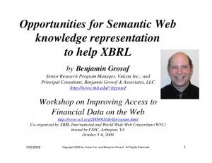 Opportunities for Semantic Web knowledge representation to help XBRL