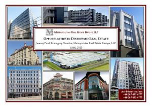 OPPORTUNITIES IN DISTRESSED REAL ESTATE