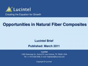 Opportunities in Natural Fiber Composites