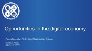 Opportunities in the digital economy