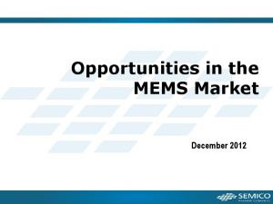 Opportunities in the MEMS Market. December 2012