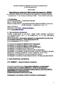 Opracowanie wydawnicze, przygotowanie do druku, druk oraz dostawa publikacji pt. Dzieje Rzeszowa tom IV ZP