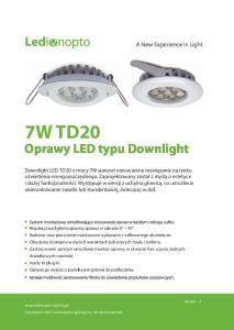 Oprawy LED typu Downlight