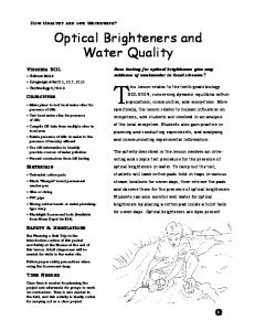 Optical Brighteners and Water Quality