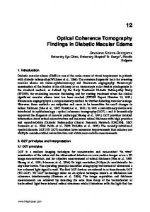 Optical Coherence Tomography Findings in Diabetic Macular Edema
