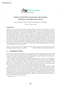 Optical sound field measurement and imaging using laser and high-speed camera