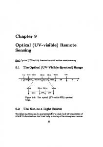 Optical (UV-visible) Remote Sensing