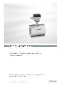 OPTIFLUX 1000 Handbuch