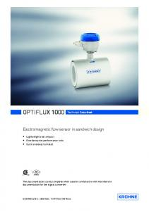 OPTIFLUX 1000 Technical Datasheet