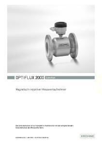OPTIFLUX 2000 Quick Start