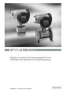 OPTIFLUX 7300 Quick Start