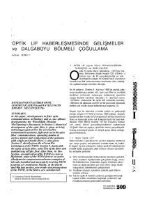 Optik lif (optic fiber) teknolojisi, 1970'de Corning