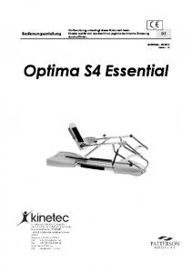 Optima S4 Essential. Bedienungsanleitung