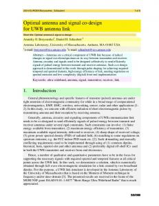 Optimal antenna and signal co-design for UWB antenna link