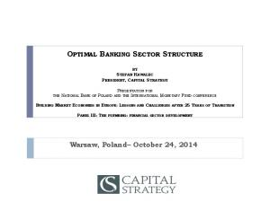 OPTIMAL BANKING SECTOR STRUCTURE