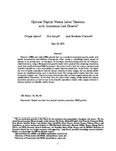 Optimal Capital Versus Labor Taxation with Innovation-Led Growth