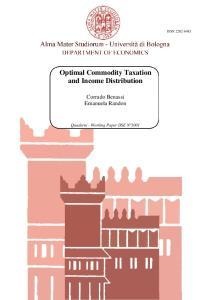 Optimal Commodity Taxation and Income Distribution