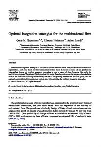 Optimal integration strategies for the multinational firm
