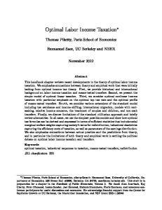 Optimal Labor Income Taxation