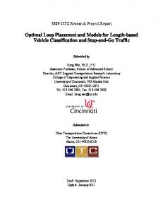 Optimal Loop Placement and Models for Length-based Vehicle Classification and Stop-and-Go Traffic