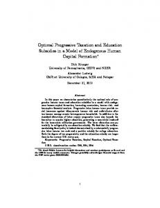 Optimal Progressive Taxation and Education Subsidies in a Model of Endogenous Human Capital Formation