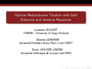 Optimal Redistributive Taxation with both Extensive and Intensive Responses