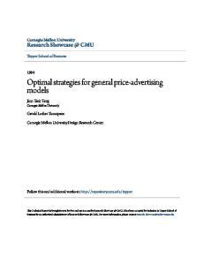 Optimal strategies for general price-advertising models