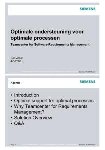 Optimale ondersteuning voor optimale processen