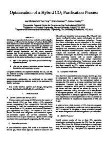 Optimisation of a Hybrid CO 2 Purification Process