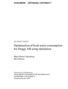 Optimisation of fresh water consumption for Doggy AB using simulation