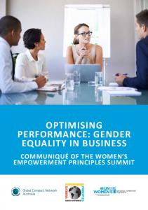 Optimising Equality in business