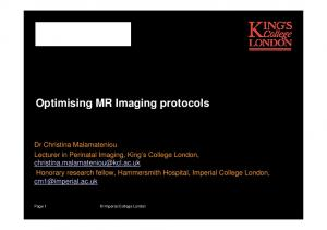 Optimising MR Imaging protocols