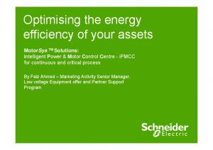 Optimising the energy efficiency of your assets