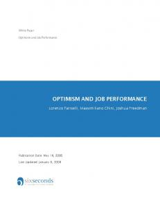OPTIMISM AND JOB PERFORMANCE