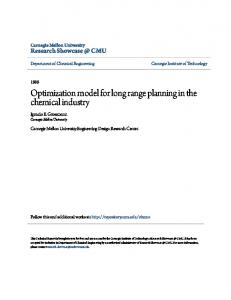 Optimization model for long range planning in the chemical industry