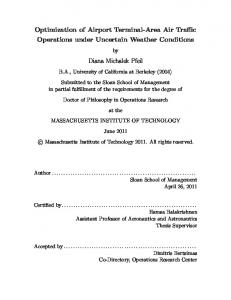 Optimization of Airport Terminal-Area Air Traffic Operations under Uncertain Weather Conditions. Diana Michalek Pfeil