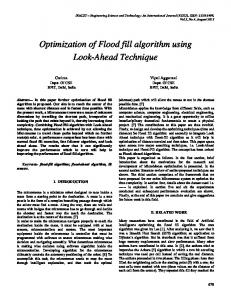 Optimization of Flood fill algorithm using Look-Ahead Technique