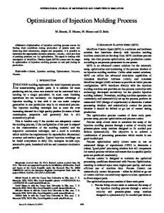 Optimization of Injection Molding Process