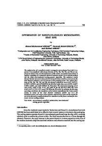 OPTIMIZATION OF NANOFLUID-COOLED MICROCHANNEL HEAT SINK