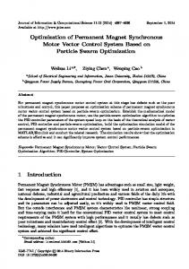Optimization of Permanent Magnet Synchronous Motor Vector Control System Based on Particle Swarm Optimization