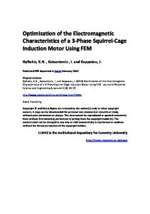 Optimization of the Electromagnetic Characteristics of a 3-Phase Squirrel-Cage Induction Motor Using FEM