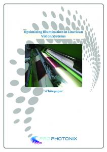 Optimizing Illumination in Line Scan Vision Systems. Whitepaper