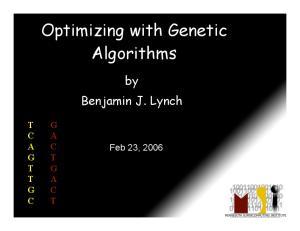 Optimizing with Genetic Algorithms