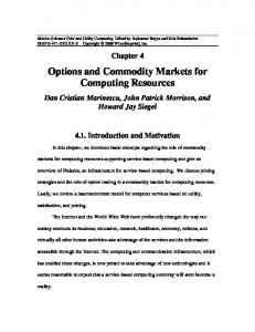 Options and Commodity Markets for Computing Resources