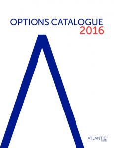 OPTIONS CATALOGUE 2016