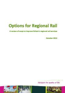 Options for Regional Rail